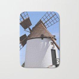 Windmill Antigua Fuerteventura Spain Bath Mat
