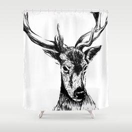 Human Deer Shower Curtain