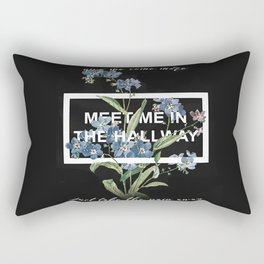 Harry Styles Meet me in the hallway graphic design artwork Rectangular Pillow