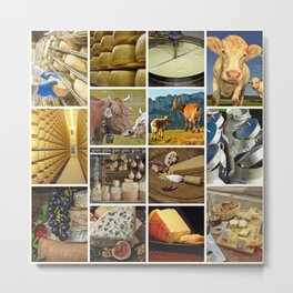 Dairy Product Collage - Cafe or Kitchen Decor Metal Print