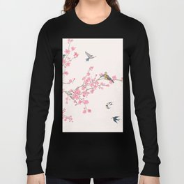 Birds and cherry blossoms Long Sleeve T-shirt