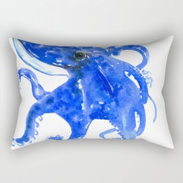 Blue Octopus Rectangular Pillow