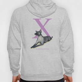 X is for Xoloitzcuintli: Under Appreciated Animals™ ABC nursery decor soft yellow unusual animals Hoody