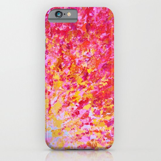 ROMANTIC DAYS - Lovely Sweet Romance, Valentine's Day Sweetheart Pink Red Abstract Acrylic Painting iPhone & iPod Case