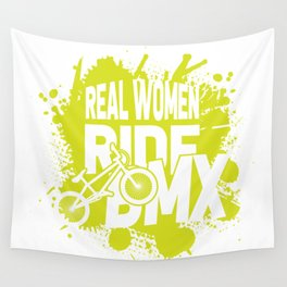 Real women ride bmx Wall Tapestry