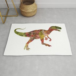 Allosaurus Watercolor Painting Rug