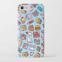 misfits iPhone & iPod Cases featuring Enfu Whimsical Misfits Pattern by enfu
