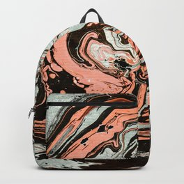 Abstract luxury painting marble Backpack