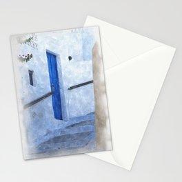 little Greek street steps Stationery Cards
