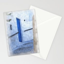 little Greek street steps Stationery Cards