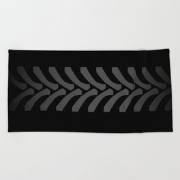Black Tyre Marks Beach Towel