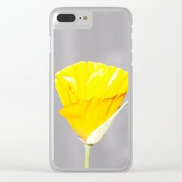 Poppy flower Clear iPhone Case