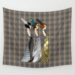 Art Deco Trio Wall Tapestry