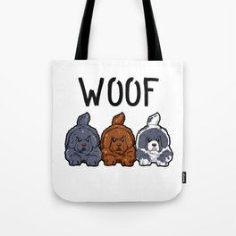 Newfoundland Dogs Woof Doggies Puppies Dog Gift Tote Bag