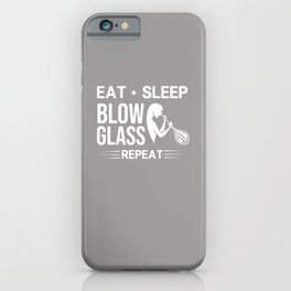 Glass Blowing Gift Glassblower Glassworking Artist iPhone Case