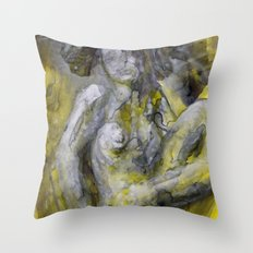 Nude in Yellow Throw Pillow