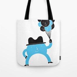 Blue-Boy Balloon Tote Bag