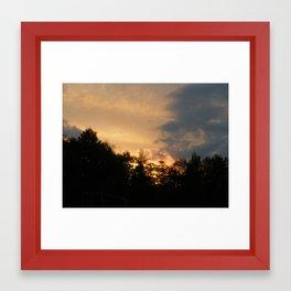 Farm Sunset Framed Art Print