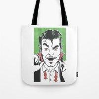 dracula Tote Bags featuring Dracula by NathanJoyce