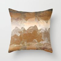 asian Throw Pillows featuring Asian background by dominiquelandau