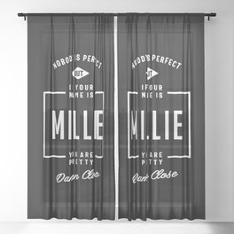 Millie Personalized Name Birthday Gift Sheer Curtain