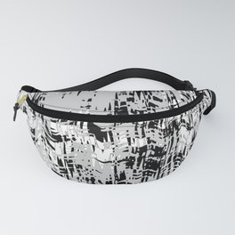 Black and White in the wind Fanny Pack