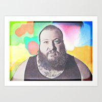 action bronson Art Prints featuring Action Bronson by Enna