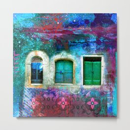 tuscany blue green Metal Print