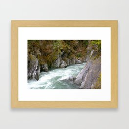 around the riverbend Framed Art Print