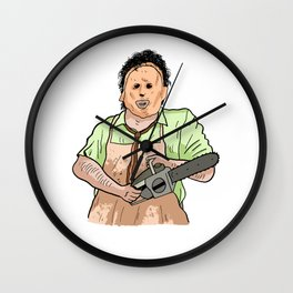 Leatherface (The Texas Chainsaw Massacre 1974) Wall Clock