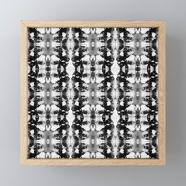 Tie-Dye Blacks & Whites Framed Mini Art Print