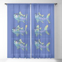 Atlantic Bluefin Tuna Sheer Curtain