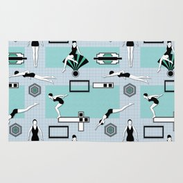 Art Deco Swimmers Rug