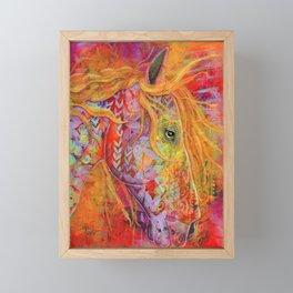 Gorgeous Fiery Red Horse Framed Mini Art Print
