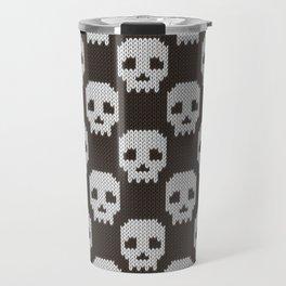 Knitted skull pattern Travel Mug