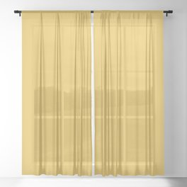 Mustard Yellow Solid Sheer Curtain