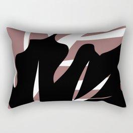BlackLeaf Rectangular Pillow