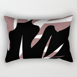 BlackLeaf Rectangular Pillow