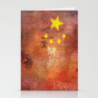 china Stationery Cards featuring China by Arken25
