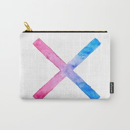 SUICIDE SQUAD HARLEY QUINN INSPIRED RED AND BLUE CROSS. Carry-All Pouch