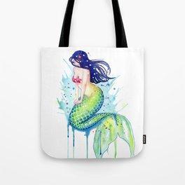Mermaid Splash Tote Bag