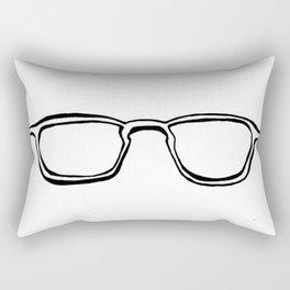 Four Eyes - B/W Rectangular Pillow
