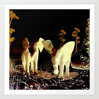 baby elephant Art Prints featuring Baby elephant by nicky2342