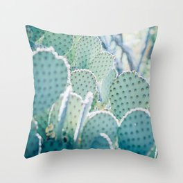 Paddle Cactus Throw Pillow