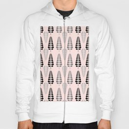 Pink Retro Floral Tree Pattern-Mix and Match with Simplicity of Life Hoody