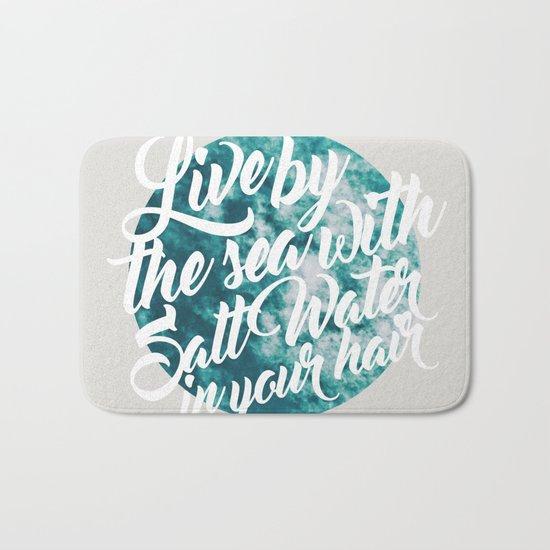 Salt Water #society6 #decor #buyart Bath Mat