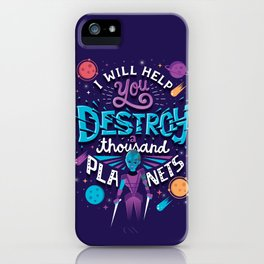A Thousand Planets iPhone Case