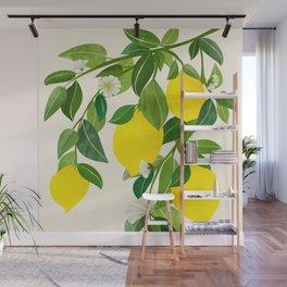 Summer Lemons / Tropical Fruit Series Wall Mural