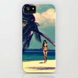 Glitchy Palms iPhone Case