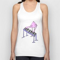 piano Tank Tops featuring Piano by melanie johnsson